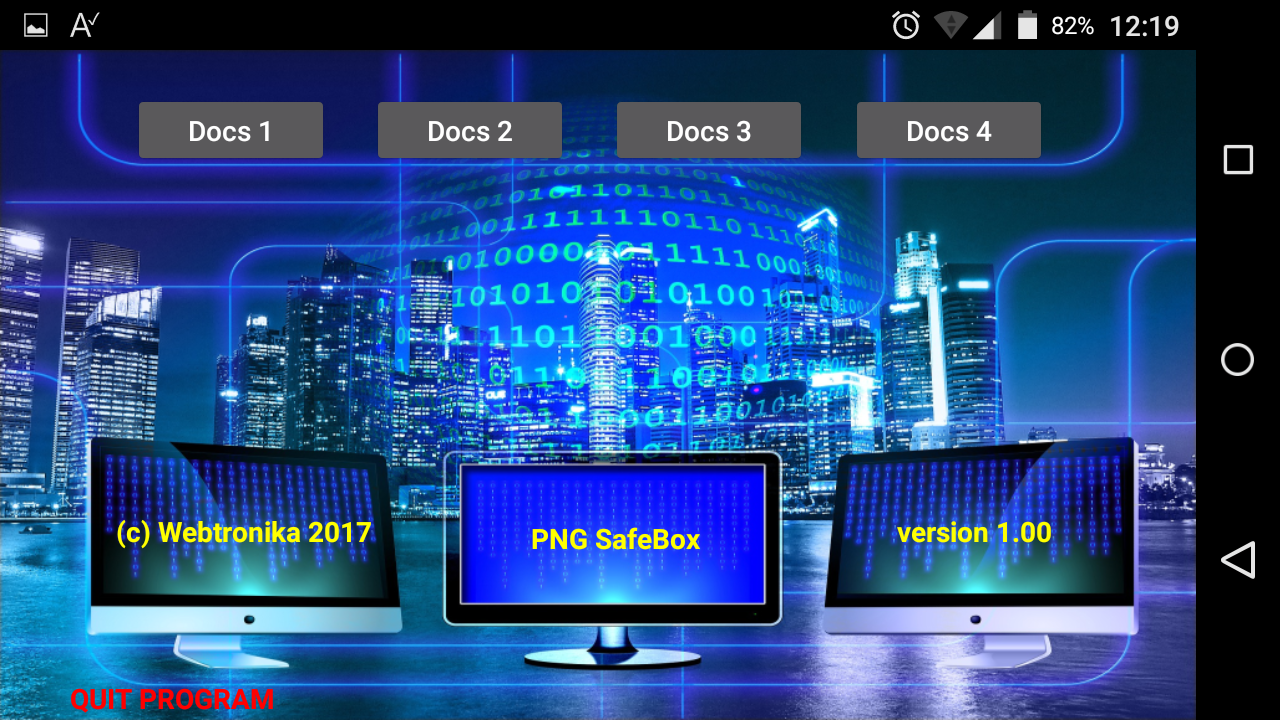 PNGSafeBox Project for Android - Webtronika